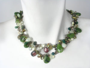 Green Jade Stone Necklace | Erica Zap Designs