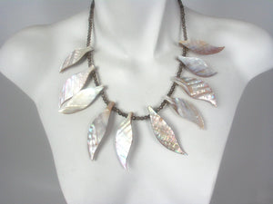 Mother of Pearl and Smoky Quartz Necklace