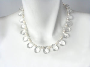 Crystal and Pearl Necklace | Erica Zap Designs