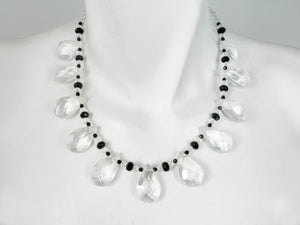 Crystal and Onyx Necklace | Erica Zap Designs