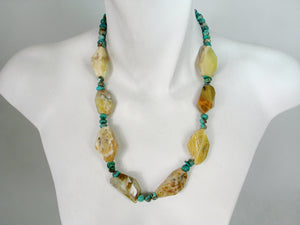 Yellow Jasper and Turquoise Necklace | Erica Zap Designs