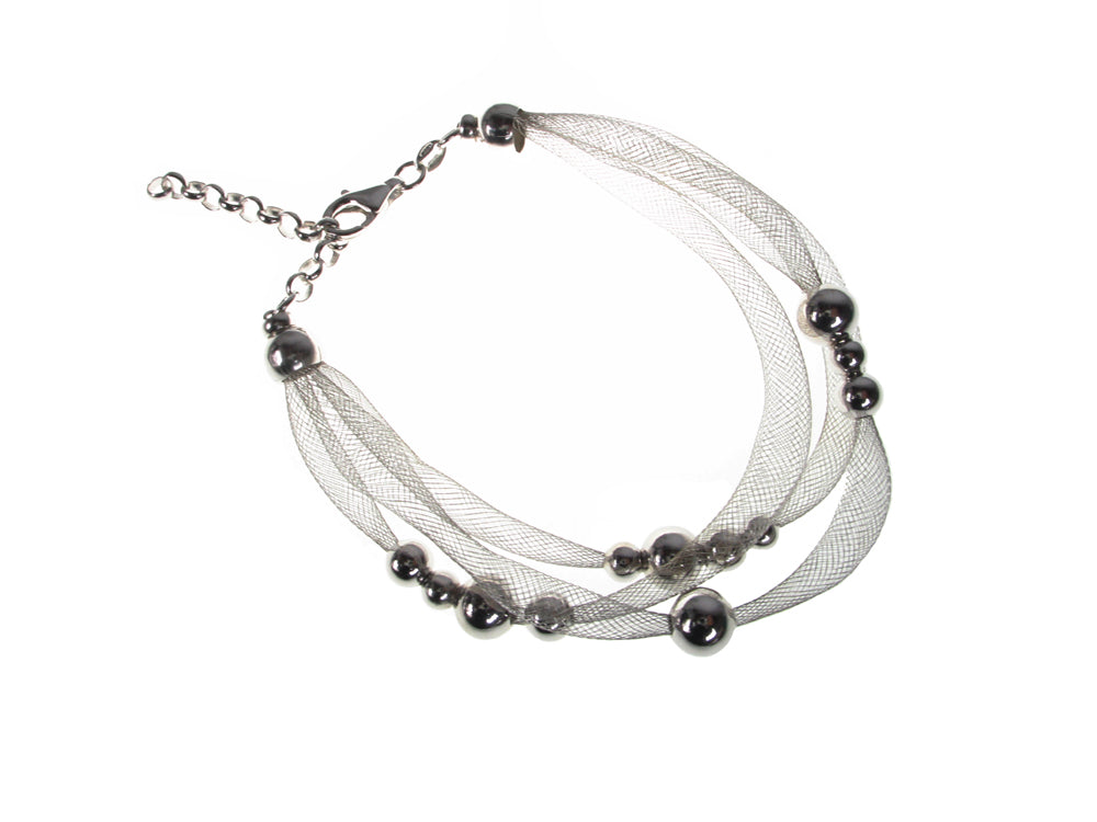 Sterling Tubular Wire Knit and Bead Bracelet | Erica Zap Designs