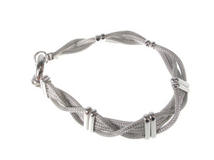 Sterling Woven Mesh and Bar Bracelet | Erica Zap Designs