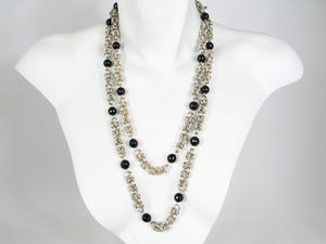 Byzantine and Onyx Sterling Linked Necklace | Erica Zap Designs
