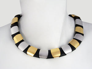 3-Tone Reversible Collar - Erica Zap Designs