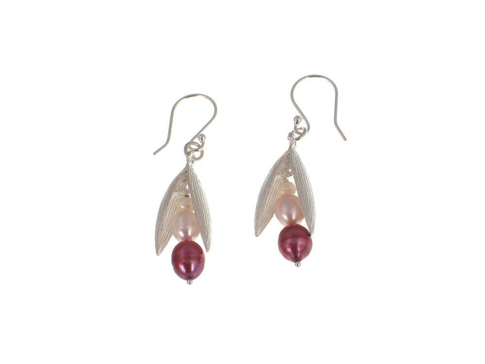Pearls in Small Sterling Pod Earrings | Erica Zap Designs