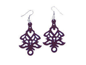Lotus Pattern Leather Earrings | Erica Zap Designs