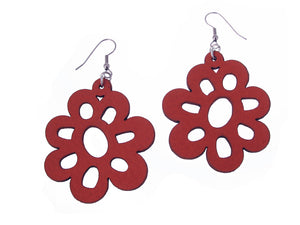 Daisy Leather Earrings | Erica Zap Designs