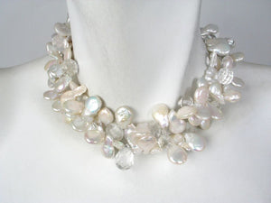 2-Strand Coin Pearl & Stone Necklace | Erica Zap Designs