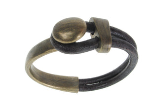 Cord Leather Bracelet | Lasso Knob & Slide | Erica Zap Designs