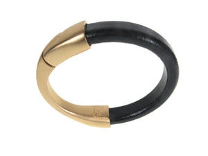 Men's Leather Bracelet | Crescent Moon Magnetic Clasp | Erica Zap Designs