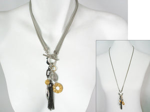 2-Way Mesh Necklace with Tassel Drop | Erica Zap Designs