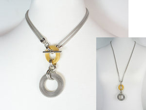2-Way Mesh Circle Drop Necklace | Erica Zap Designs