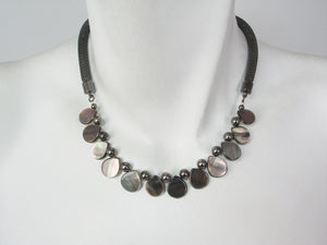 Reversible Mother-of-Pearl Mesh Necklace | Erica Zap Designs