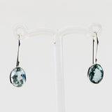 100% 925 Solid Sterling Silver Semi-Precious Blue Topaz Natural Stone Earrings - Cherish Me Jewellery - Melbourne Australia
