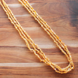 88cm Three-Strand Semi Precious Yellow Jade Chip Long Necklace - Cherish Me Jewellery - Melbourne Australia