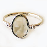 100% 925 Solid Sterling Silver Faceted Green Amethyst Stone Ring - Size 7, 8 or 9 - Cherish Me Jewellery - Melbourne Australia