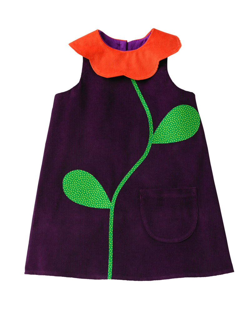 Wild Things Free pattern / flower collar dress