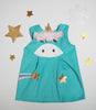 Unicorn Play Dress in Aqua