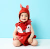 Cute Baby Fox animal romper with fox ears bonnet, baby shower gift