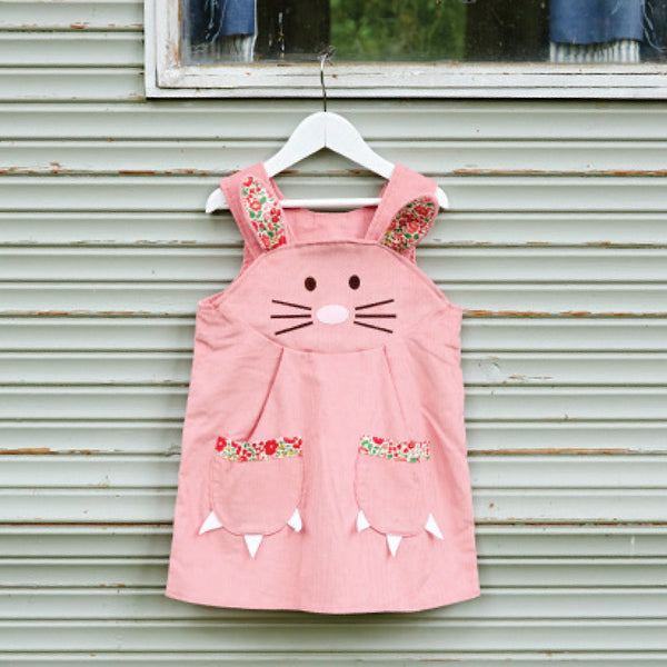Bunny Dress Liberty Print in Pink