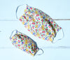 Simple face mask in pure cotton Liberty Print 3 sizes child to adult