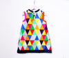 Geometric print A-line dress for little girls & toddlers.