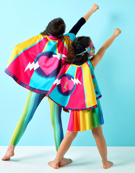 Girl power super hero cape