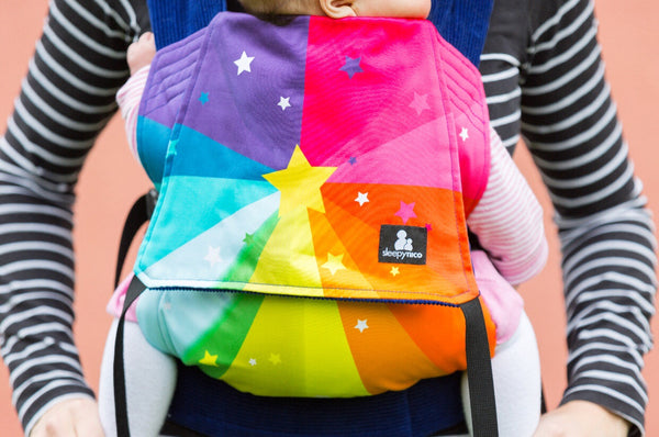 Baby Carrier Starburst Rainbow Sleepy Nico