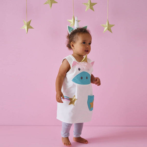 Unicorn Play Dress in Ivory