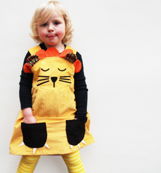 Sleepy lion dress up pinafore , lion costume