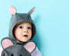 Baby Mouse animal romper with bonnet