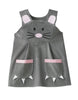 Baby girls mouse dress costume in grey