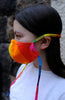 Fun rainbow face covering mask