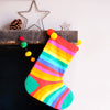 Personalised Christmas stocking , super hero, rainbow stripe sock ,reindeer , family stocking set