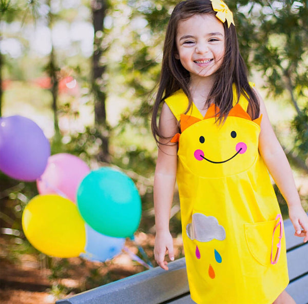 Sunshine girls yellow pinnie dress