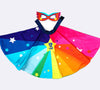 Personalised Rainbow super hero superstar cape & mask dress up