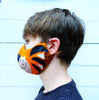 Kids cotton character face mask shark bunny lion tiger dog children's face covering