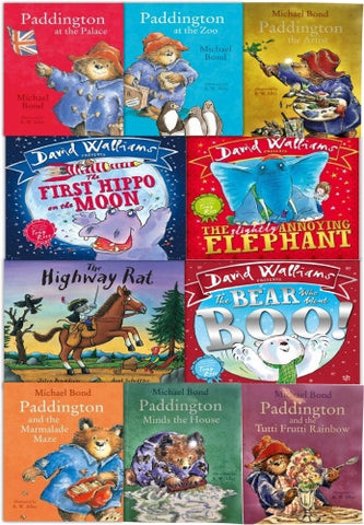 Children Reading, Bedtime Stories - 10 Books Collection Set From Best Selling Authors: David Walliams, Julia Donaldson and Michael Bond (Paddington Bear Series)