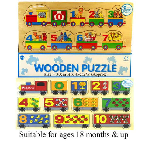 123 Train Wood Puzzle PREORDER