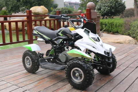 50cc Dirt Ninja Mini Off-Road Petrol Quad Bike - Green