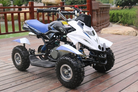 50cc Dirt Ninja Mini Off-Road Petrol Quad Bike - Blue
