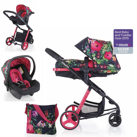 Cosatto Woop 2 in 1 Pram/Pushchair/Travel System with Hold Car Seat in Tropico