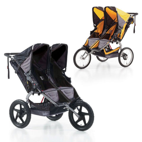 Britax Ironman Sport Utility Double Stroller Pushchair Buggy Black Racing Yellow