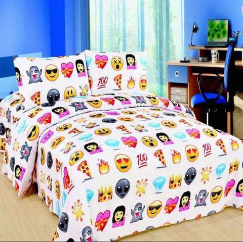 Icon Pizza Design Duvet Cover with Matching Pillow Case Bedding Set