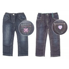 Girls Lined Jeans In 2 Designs