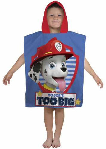 "Official PAW Patrol ""PAWsome"" Character Hooded Towel Poncho"