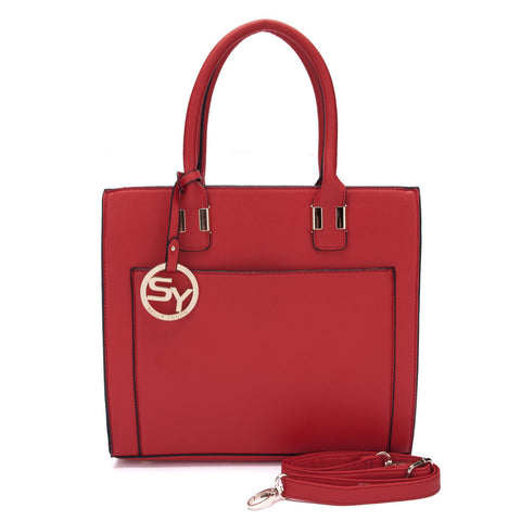 Red - Sally Young Simple Solid Square Ladies Handbags