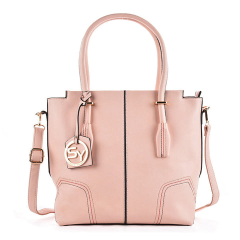 Pink - Sally Young Simple Thread Women Handbags With Pendant
