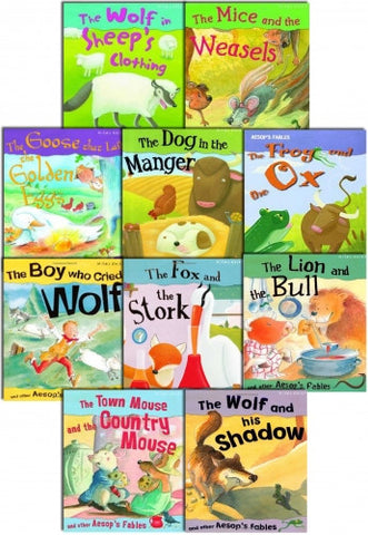 Aesop's Fables Story Collection 10 Books Set In A Bag